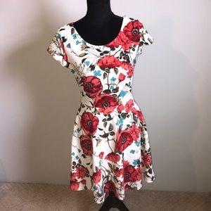 Gorgeous Gilli Poppy criss cross back dress